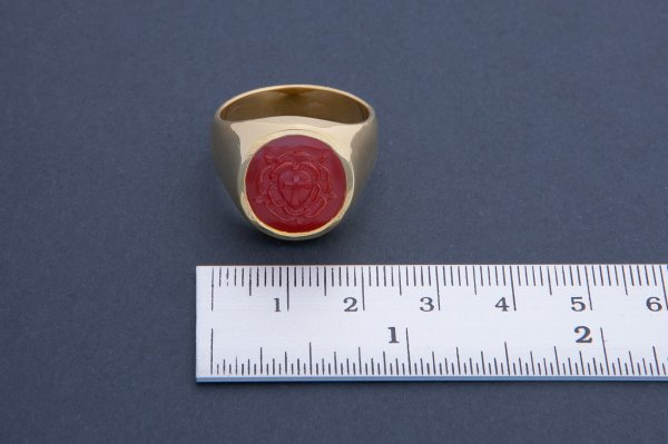 Rose Cross Ring - Red Agate Gold Plated Regnas