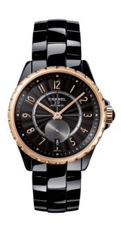 Chanel-J-12-365-Black-Ceramic-Beige-Gold-Watch-H3838