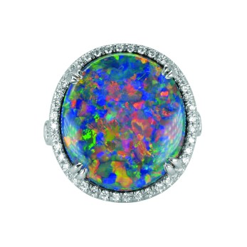 8.85 ct Opal Ring High Res by Jeffrey Bilgore