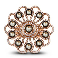 Flora Ring by Beauvince Jewelry. Front View