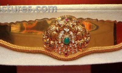 Peacock Baby Vaddanam design  Jewellery Designs