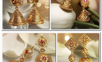 Antique Earrings From Tanishq Divyam Collection