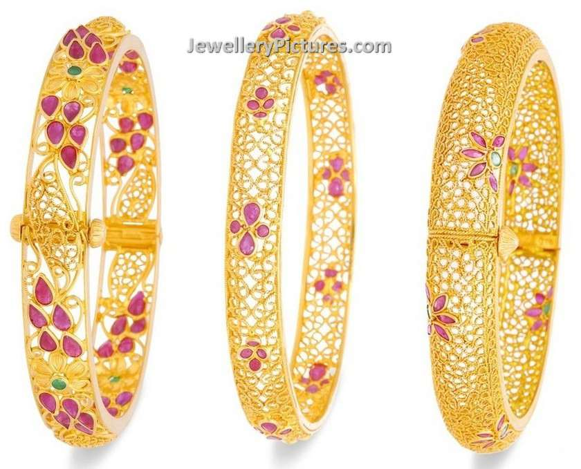 I still think she should do something with h. Gold Bangles Designs With Price Jewellery Designs