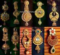 Kalyan Jewellers Earring Collections - Jewellery Designs