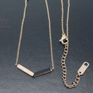 Rose Gold Coloured Stainless Steel V Necklace
