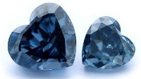 blue heart diamonds