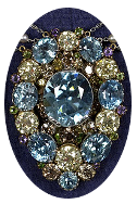 tiffany pendant with zircon