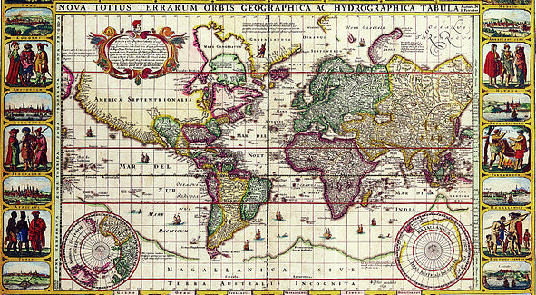1652 Map of World