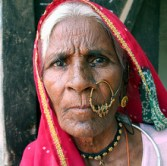 Indian woman with earring