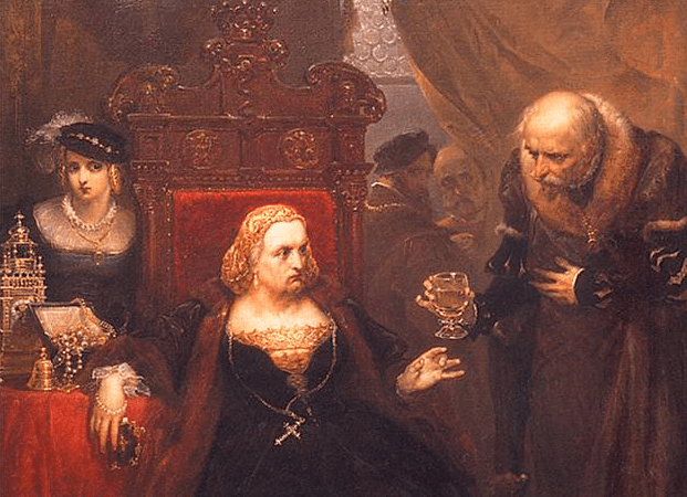 detail of poisoning of queen bona