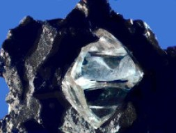 Diamond Crystal in Matrix