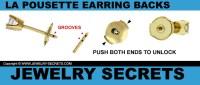 CHRYSMELA  THE BEST LOCKING EARRING BACK!  Jewelry Secrets