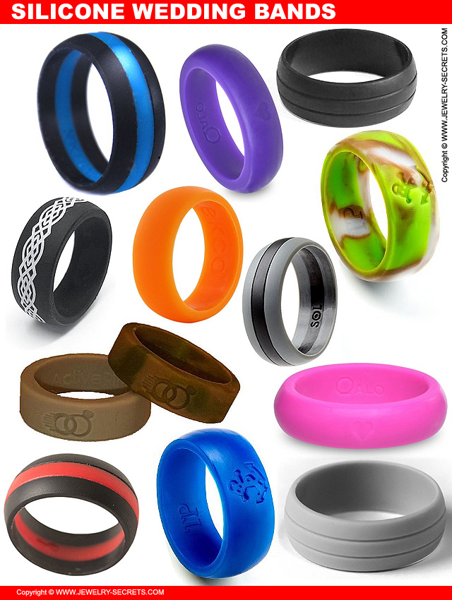 Stunning Wedding Rings Silicone Wedding Rings