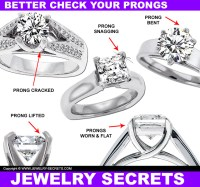 YOUR PRONGS ARE FLAT!  Jewelry Secrets