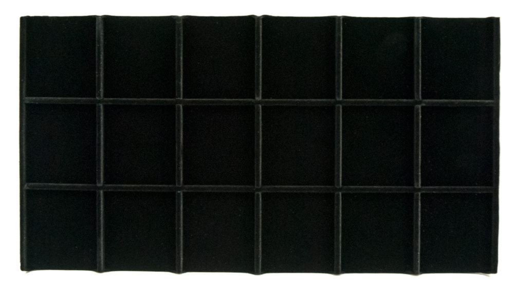 Black Velvet Sectioned Jewelry Tray Insert 3 X 6