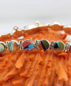 Handmade Spiny Oyster Shell Bracelet by Navajo Artist Dave Skeet