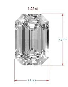 Diamond millimeter to carat conversion formula emerald radiant and princess cuts also how determine weight of rectangular diamonds by rh jewelrynotes