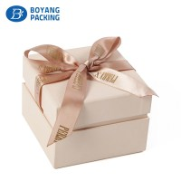 Luxury custom paper Jewelry gift box with ribbon - Jewelry box