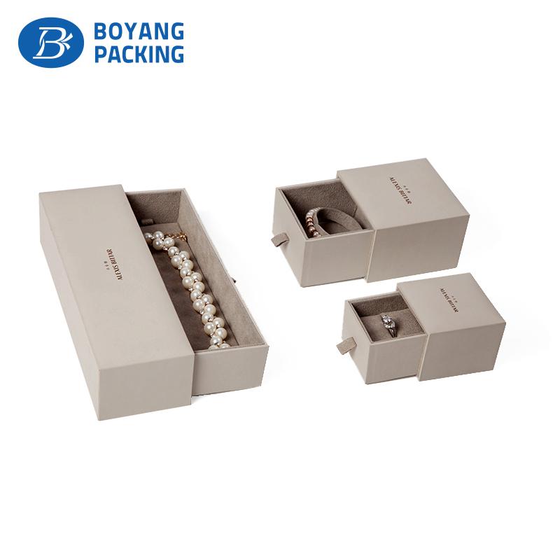 Custom jewelry packaging, white jewellery box factory