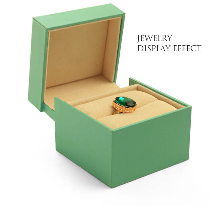 Green plastic ring boxes, pearl ring box manufacturers