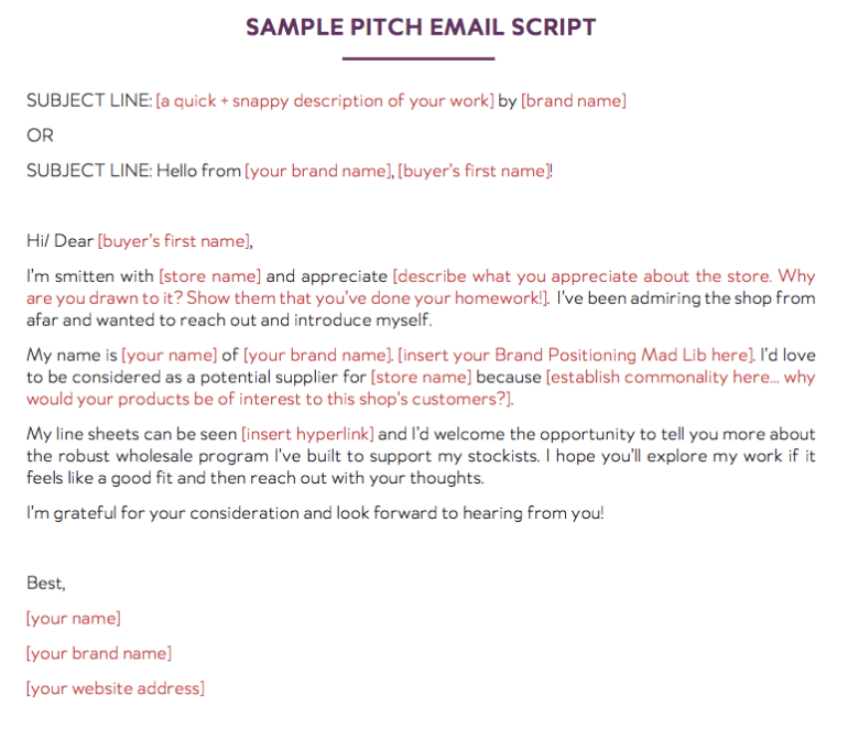 Sample Email Script to Sell Wholesale