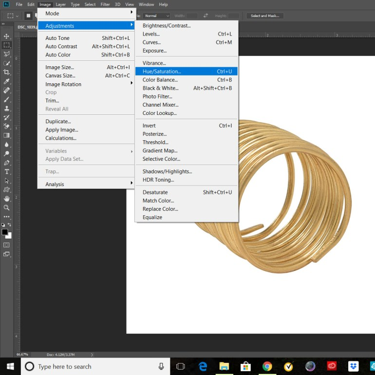 How To Change Color From Gold To Silver And Rose Gold In Photoshop