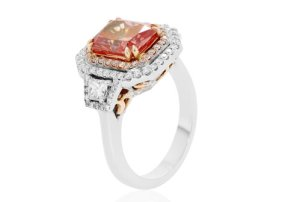 ruby engagement ring with white gold band