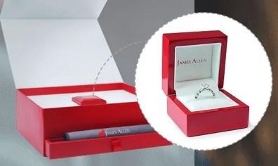 James Allen engagement ring packaging