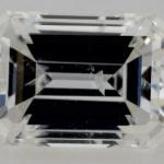 extinction in emerald shape diamond