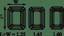 Best length to width ratio for emerald shape diamond