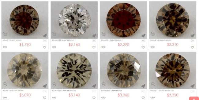 Brown diamonds from James Allen