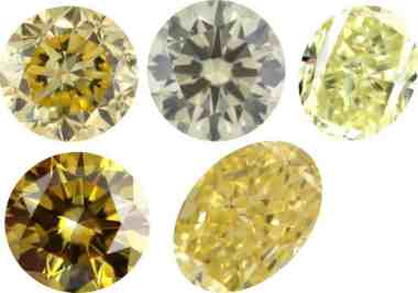 cushion fancy yellow carat d sku greenish brownish diamond