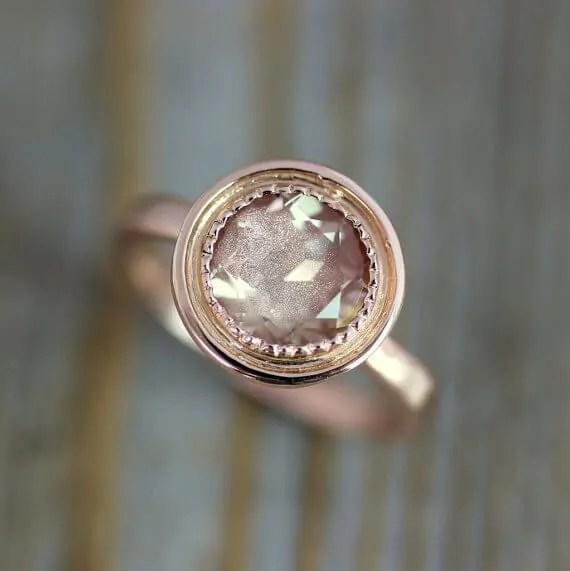 Sunstone engagement ring
