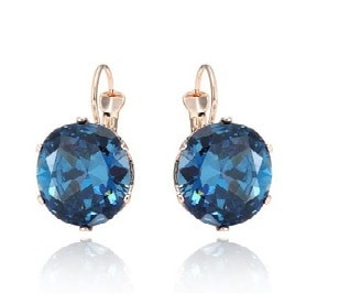 Pair of blue zircon earrings