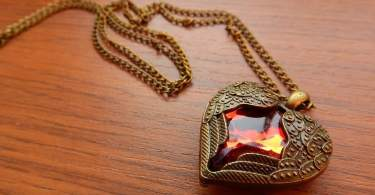 brass pendant with gemstone