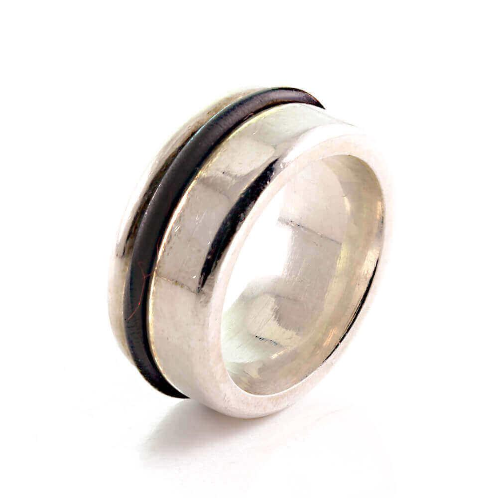Massiver Band Ring Bandring Joop aus Silber 925 mit Gummi