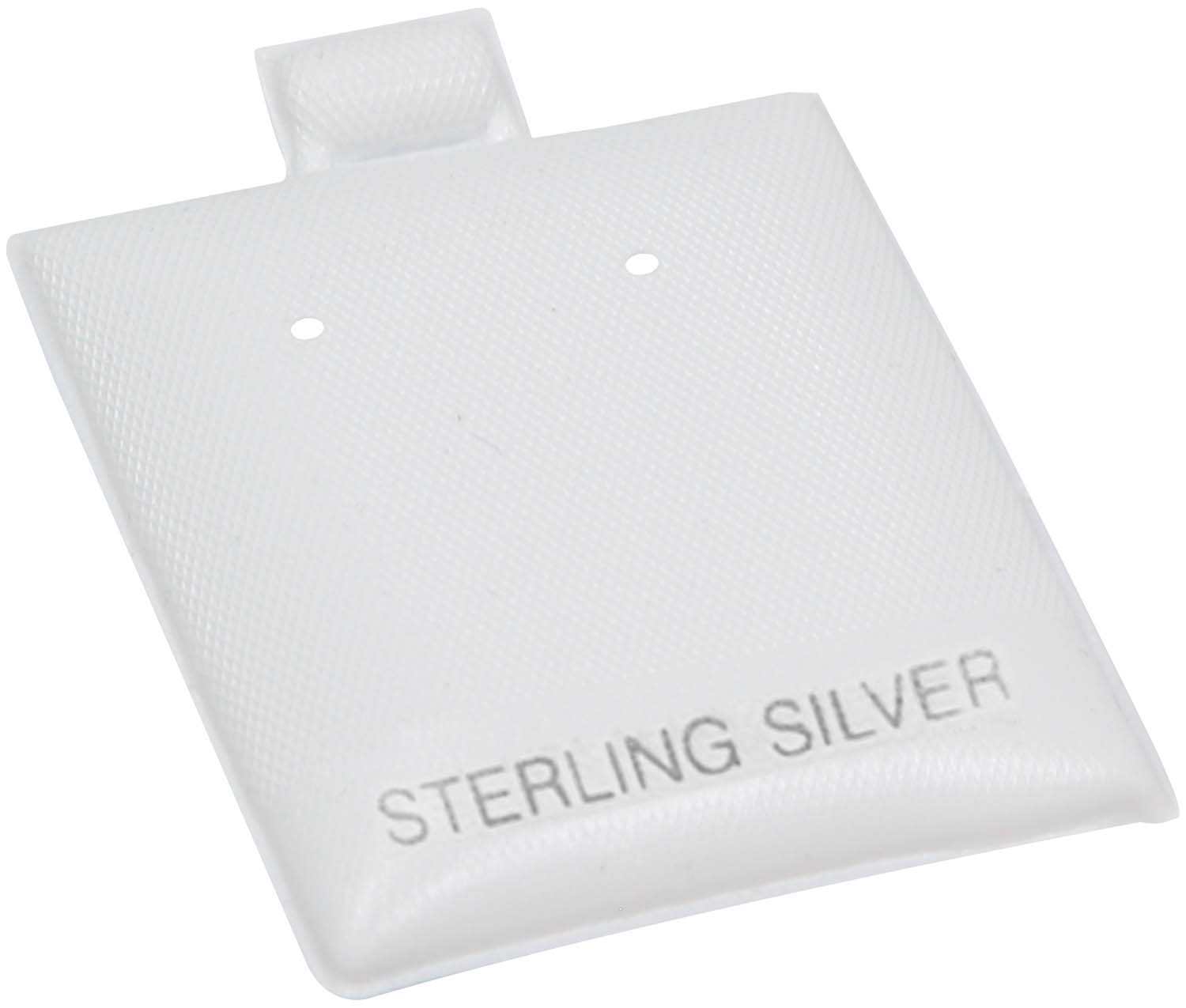 Earring Puff Pads White Color Sterling Silver Imprint
