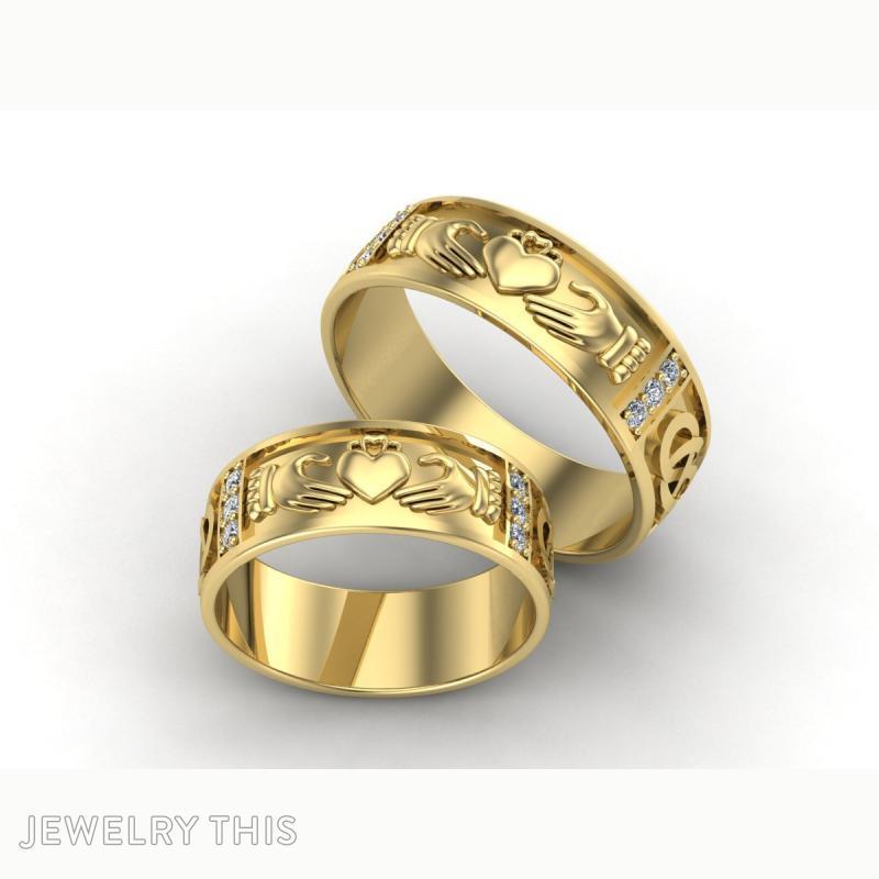 3D Jewelry Design Claddagh Wedding Ring  Jewelrythis