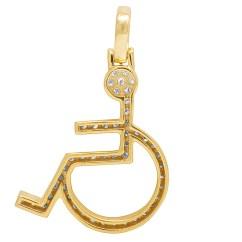 Wheelchair Emoji Discount Zero Gravity Chair 10k Yellow Gold Handicap Sign Symbol