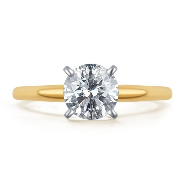 14k Yellow Gold Cut Solitaire Diamond Engagement Promise Ring 1 2 Ct