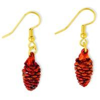 Iridescent Copper Dipped Pine Cone Dangle Earrings | eBay