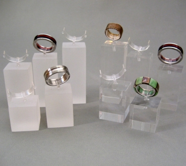 Clear Acrylic Jewelry Display Stand For Ring Custom Design