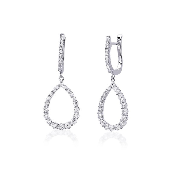 orecchini argento zirconi