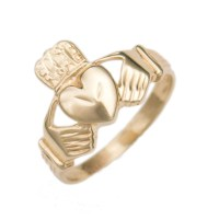 10K Yellow Gold Estate Claddagh Ring - JewelSmith