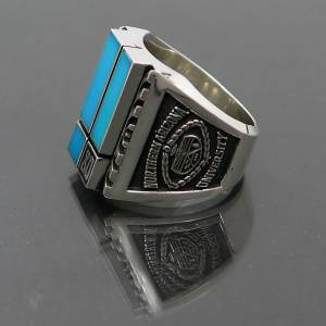 Sterling Silver Turquoise Class Ring