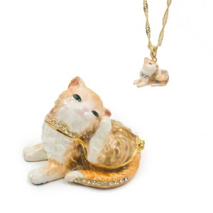Tickles Kitty Cat Trinket Box