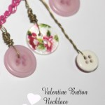 Valentine showers of love button necklace tutorial