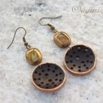 Gilded woods earrings tutorial