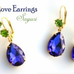 DIY Crystal Love Earrings for Valentines day