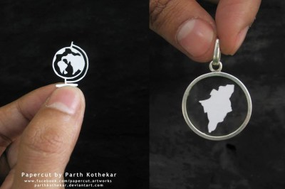 papercut pendants